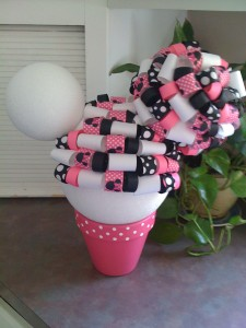 minnie mouse inspired topiary