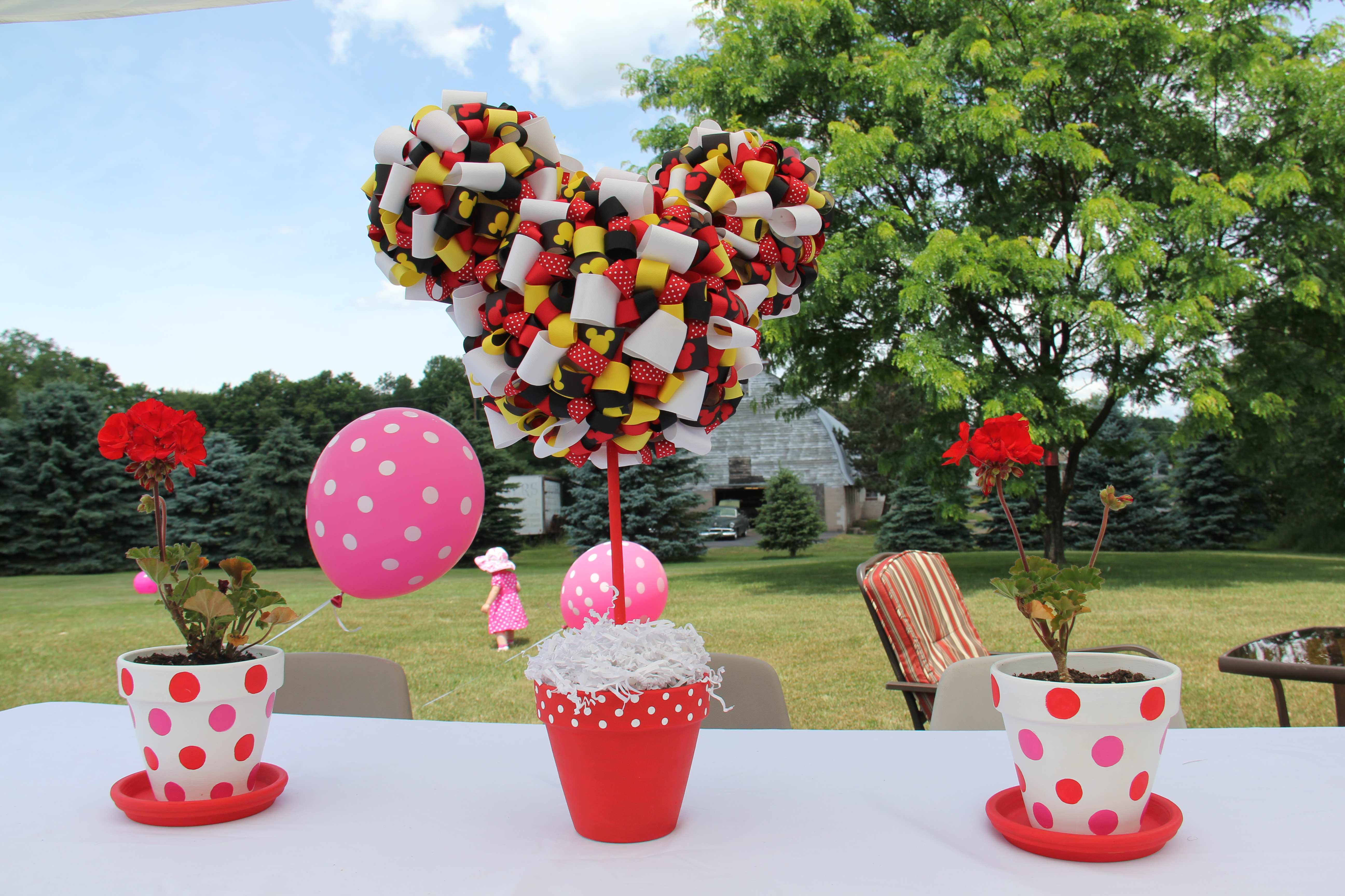 Mickey And Minnie Mouse Flower Garden Birthday Party