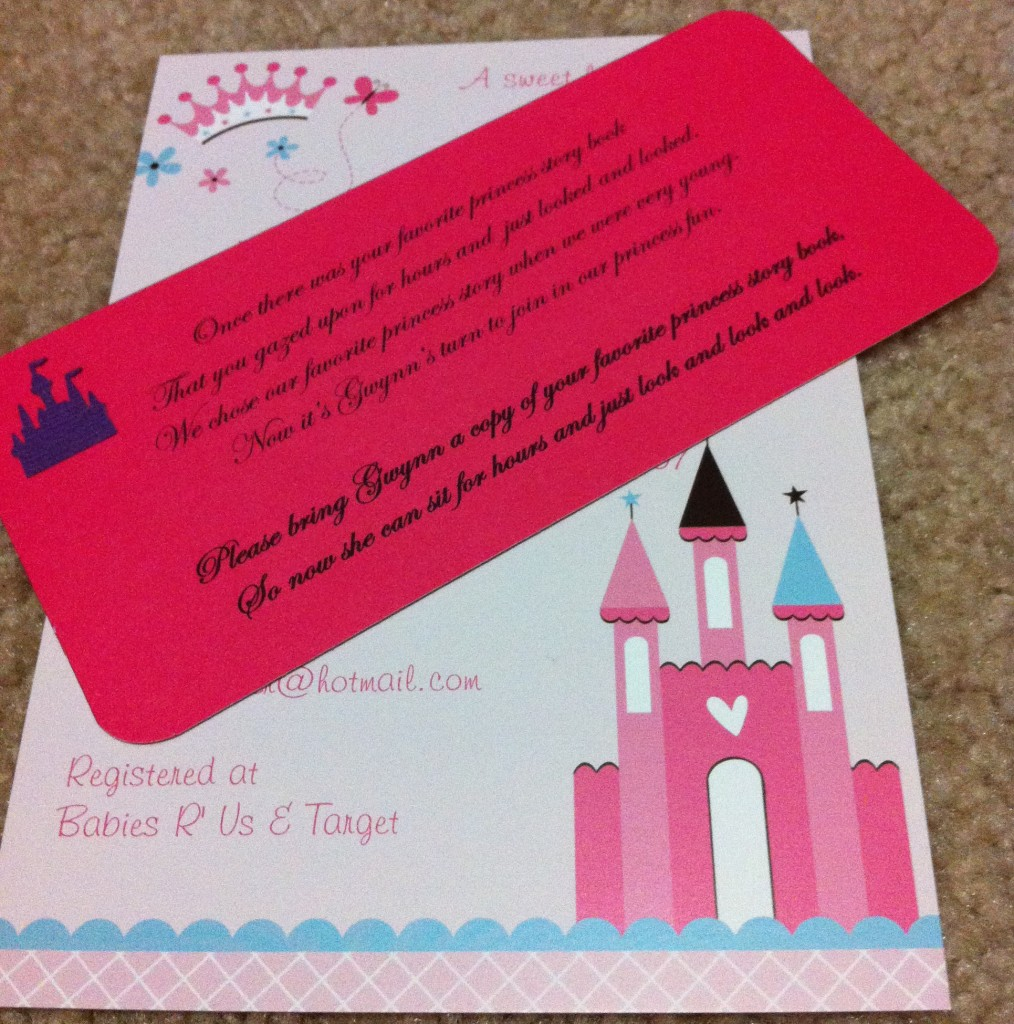 Princess Shower Invitation