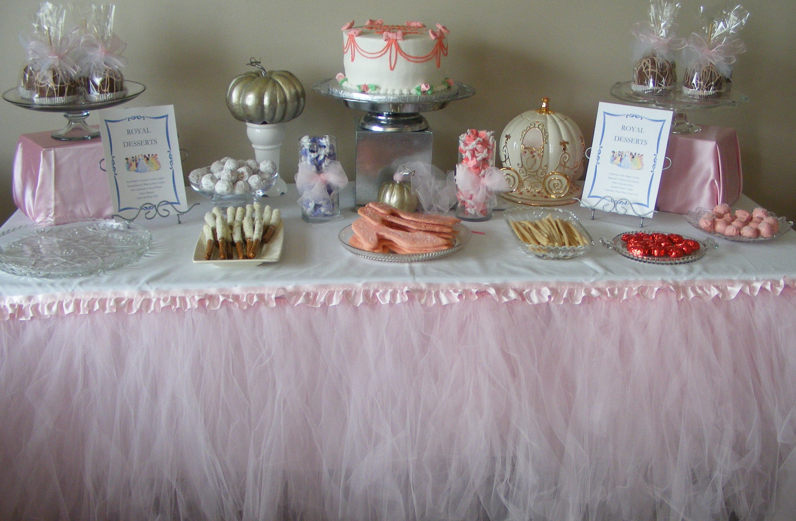 Princess Baby Shower Treat Table