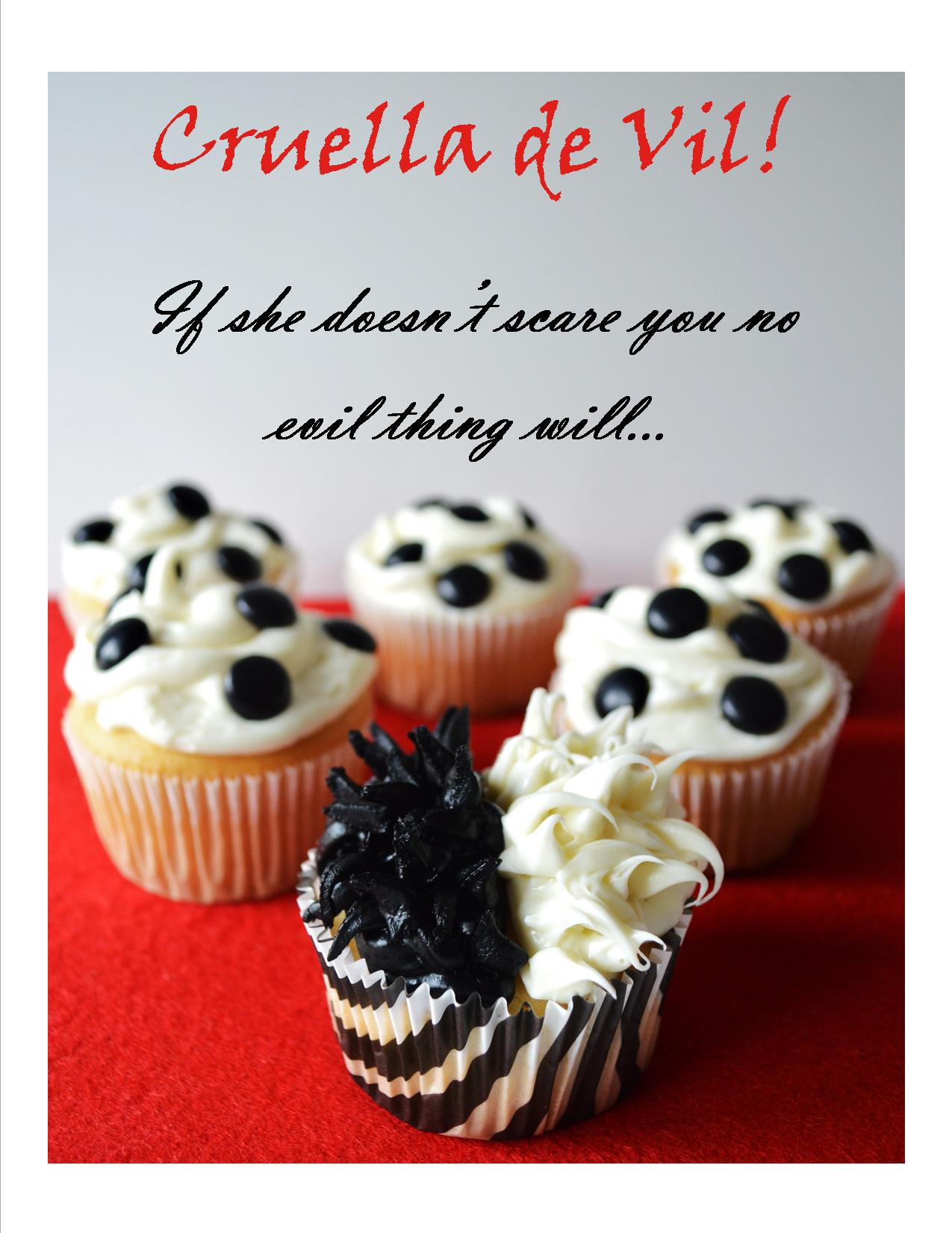Disney Villain Cruella de Vil Cupcakes Mouse Ears Mom