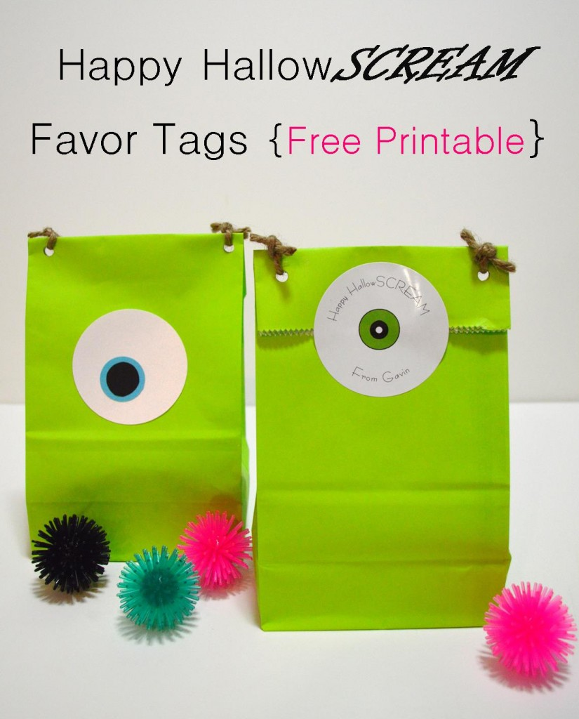 Happy Halloween favor tag