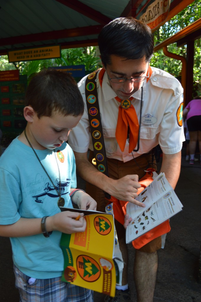Wilderness Explorer program at Disney's Animal Kingdom