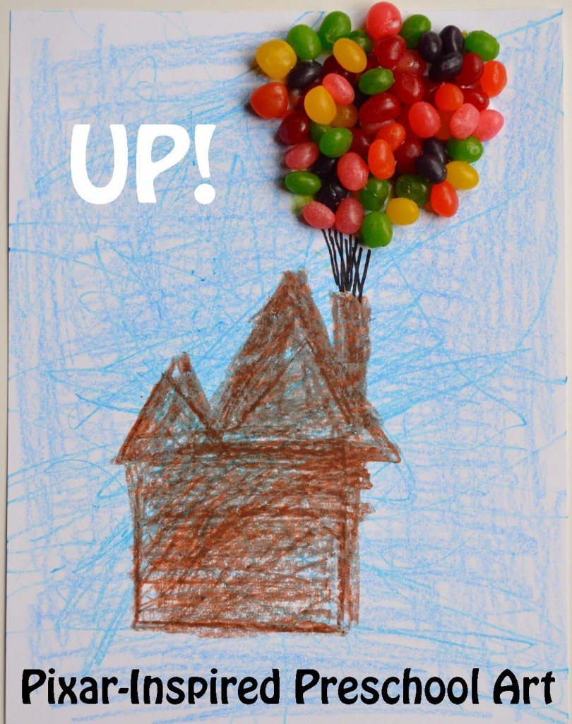 Up Inspired Preschool Art