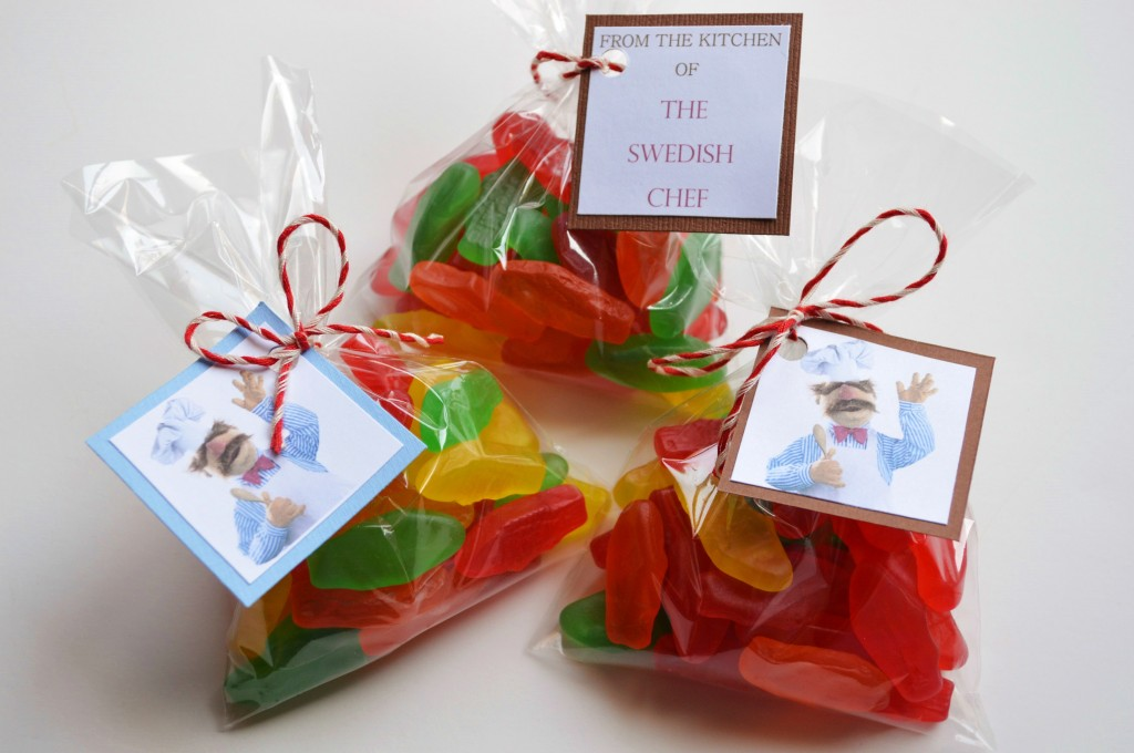 The Swedish Chef favor tags