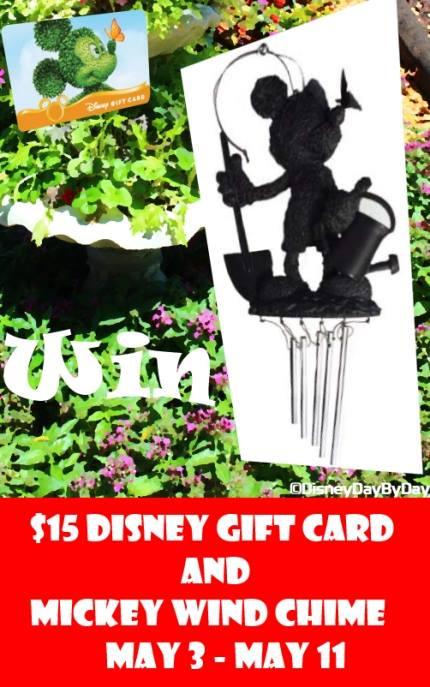 Mickey wind chime giveaway