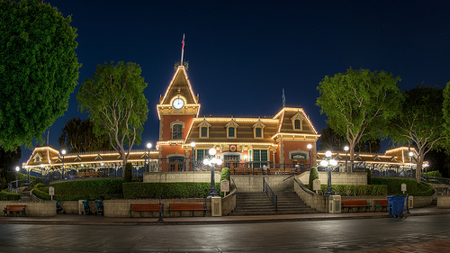 Disneyland at Dark
