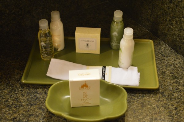 The vanity at Disney's Grand Californian.