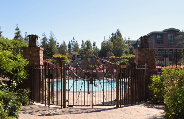 Entrance to the Fountain Pool at Disney's Grand Californian Hotel