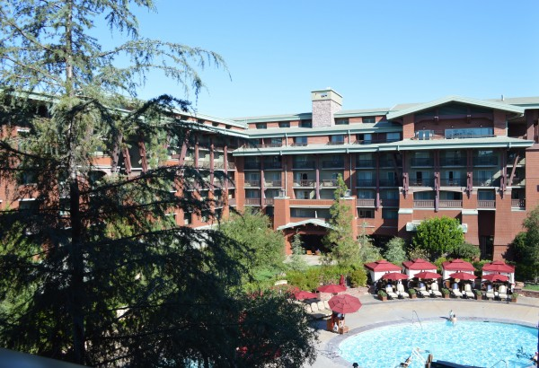 Pool View from DVC Studio at Disney's Grand Californian Hotel