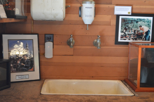 Walt Disney's wash area in his barn.