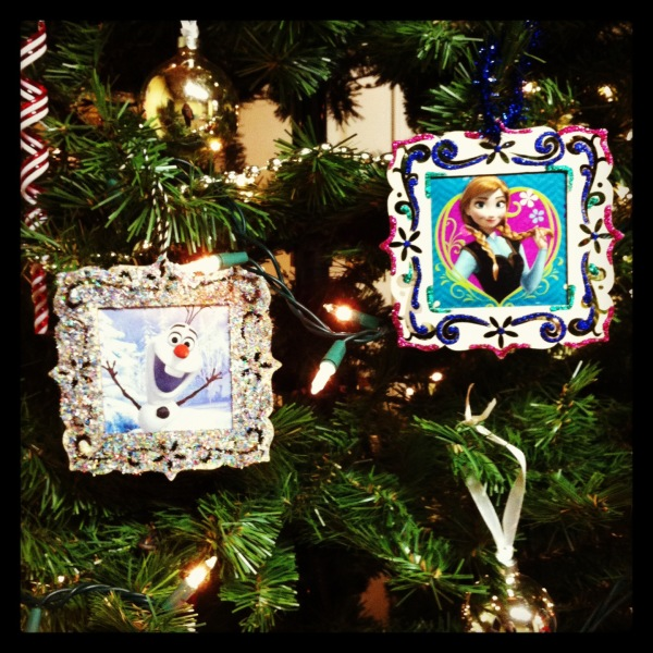 Olaf and Anna ornaments