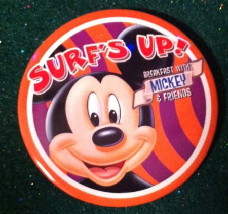 Surf's Up Breakfast with Mickey