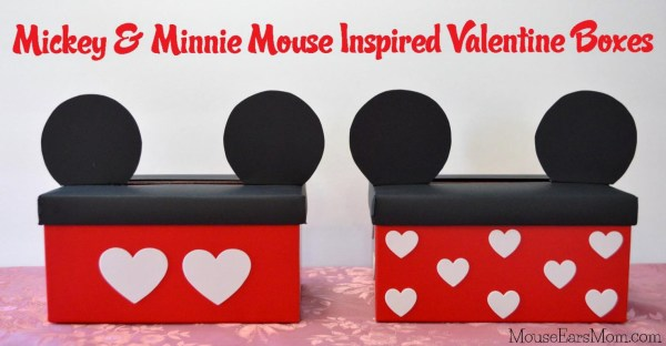 Mickey and Minnie Mouse Valentine Boxes