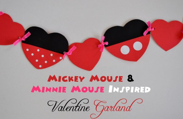 Mickey and Minnie Valentine Garland by MouseEarsMom.com