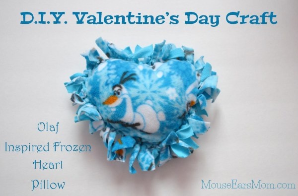 Olaf Frozen No Sew Heart Pillow