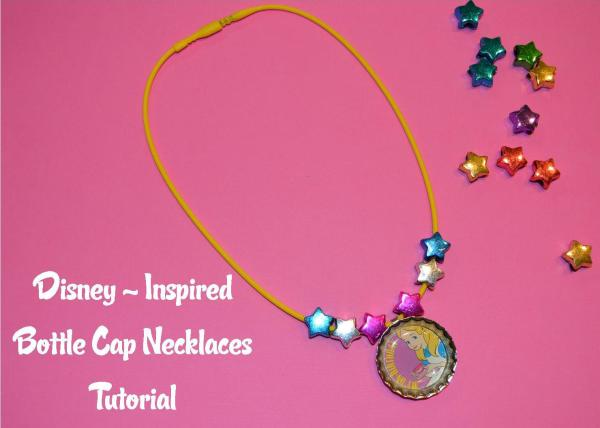Bottle cap necklaces