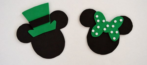 Mickey and Minnie St. Patrick's Day Craft