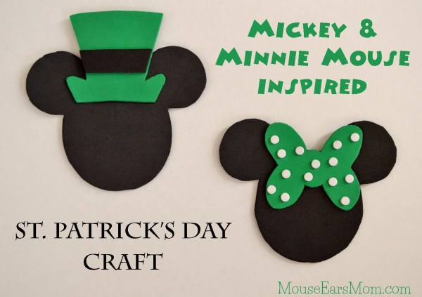 Mickey and Minnie Mouse St Patty Craft