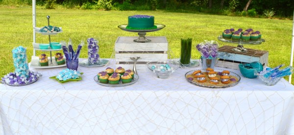 Little Mermaid inspired treat table