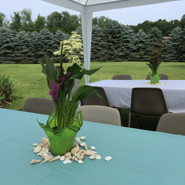 mermaid party table decor