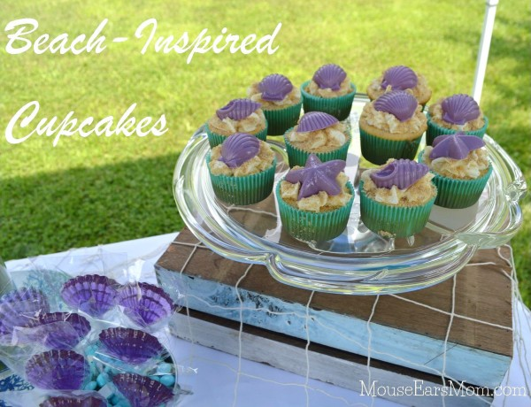 Little Mermaid Sea Shell cupcakes